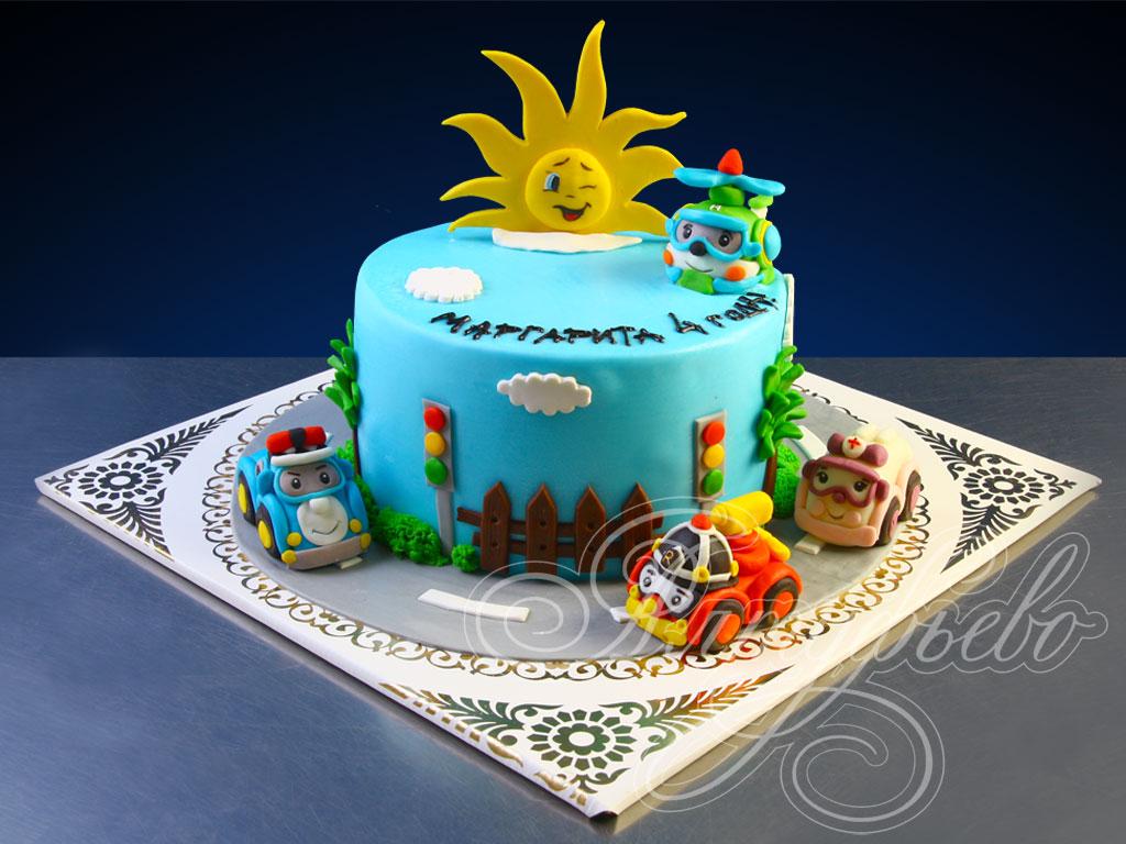 Торт робокар поли - YouTube